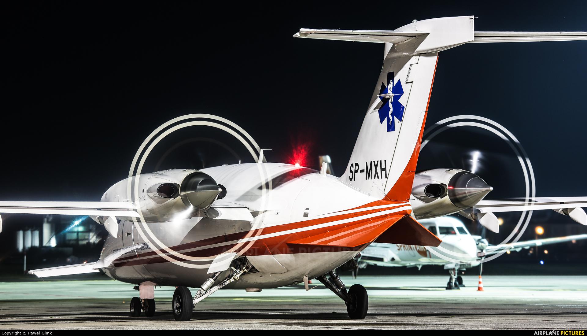 Polish Medical Air Rescue - Lotnicze Pogotowie Ratunkowe SP-MXH aircraft at Gdańsk - Lech Wałęsa