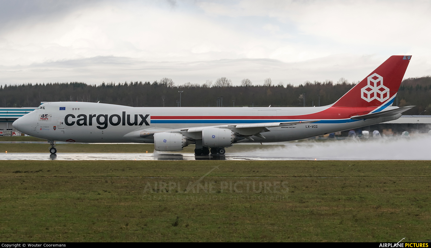 Cargolux LX-VCG aircraft at Luxembourg - Findel