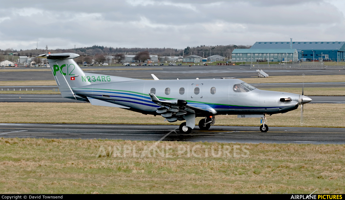 Private N234RG aircraft at Prestwick