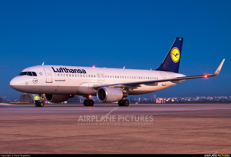 Lufthansa D-AIUC aircraft at Sofia