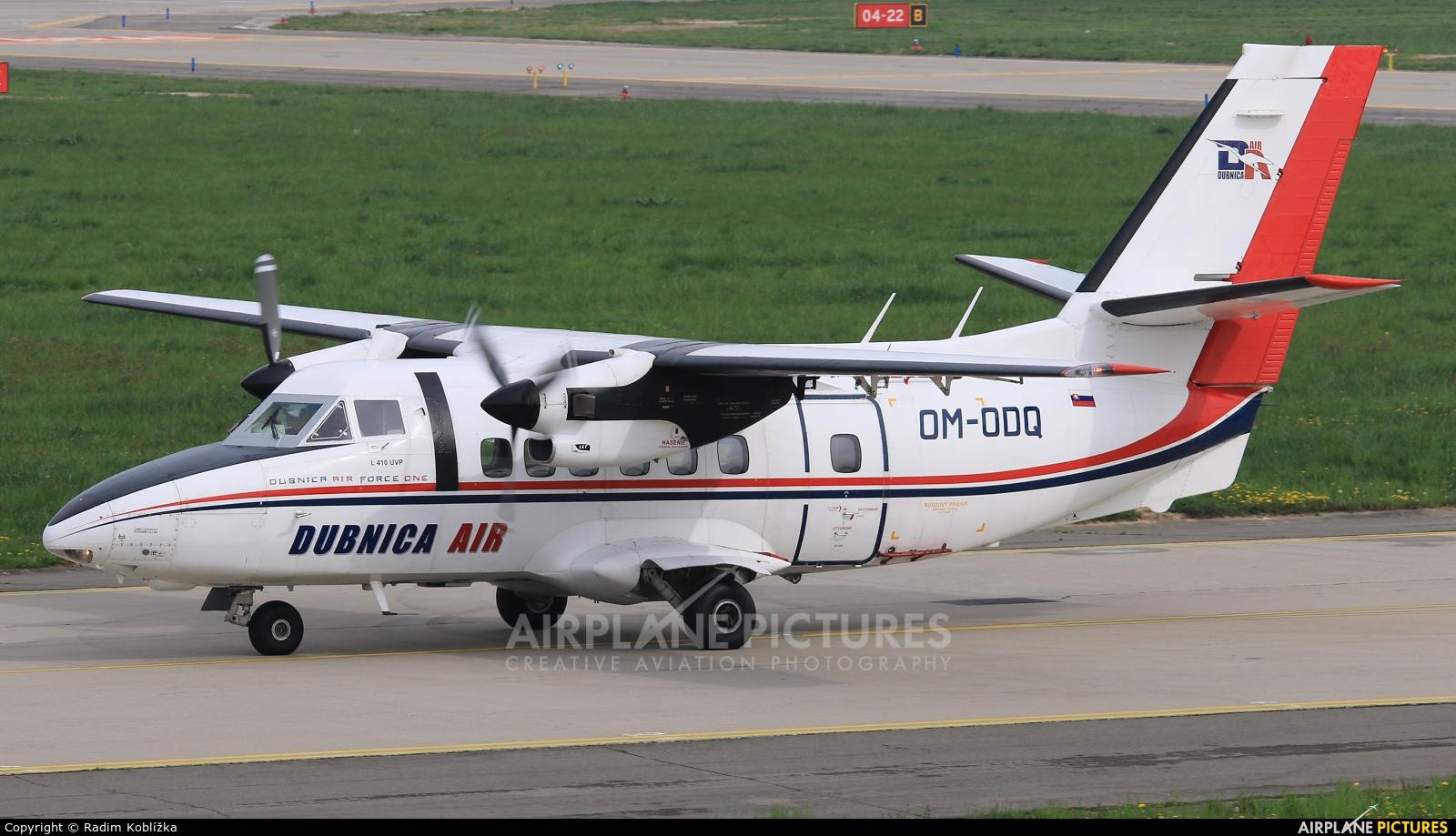 Dubnica Air OM-ODQ aircraft at Ostrava Mošnov