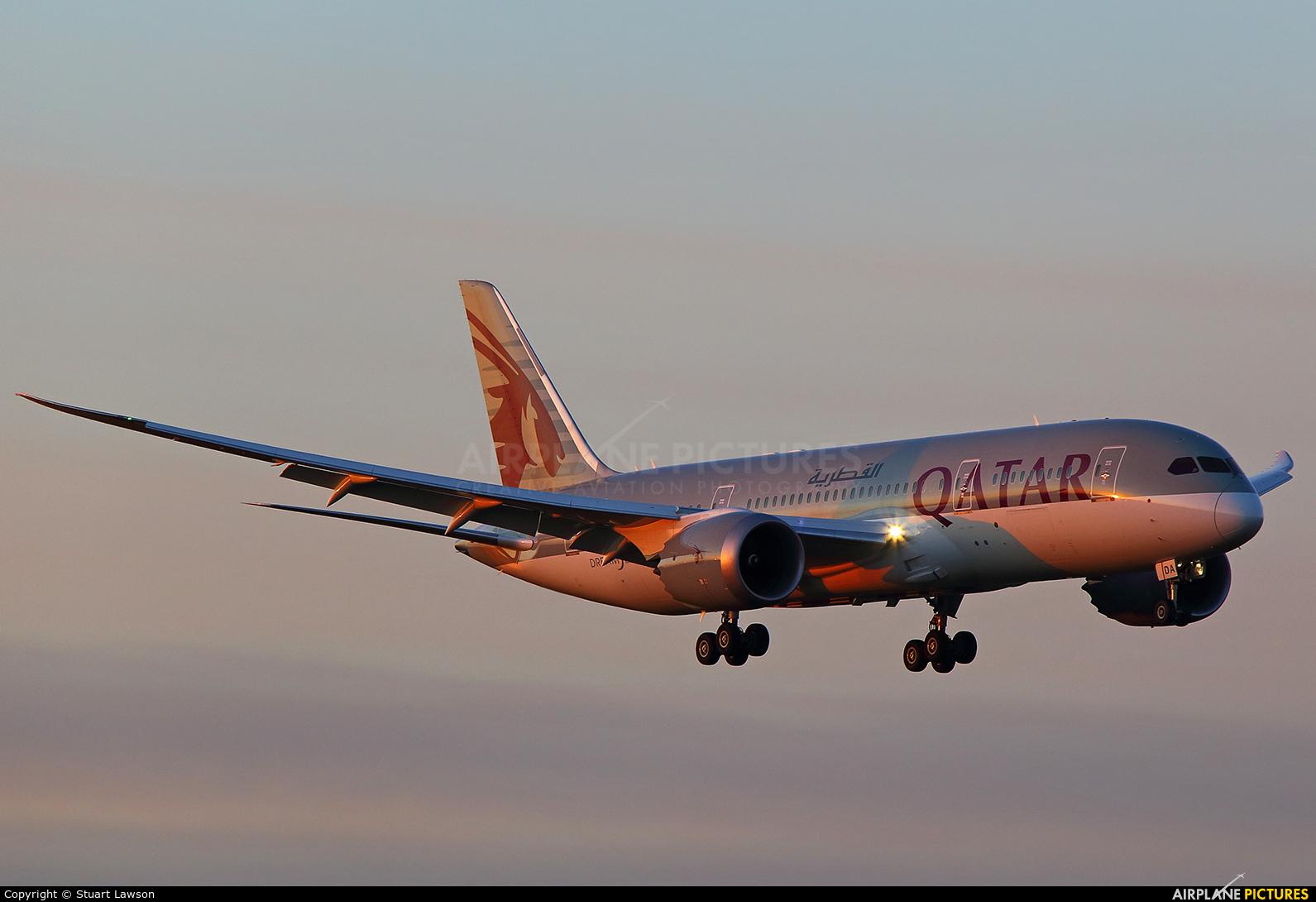 Qatar Airways A7-BDA aircraft at Birmingham