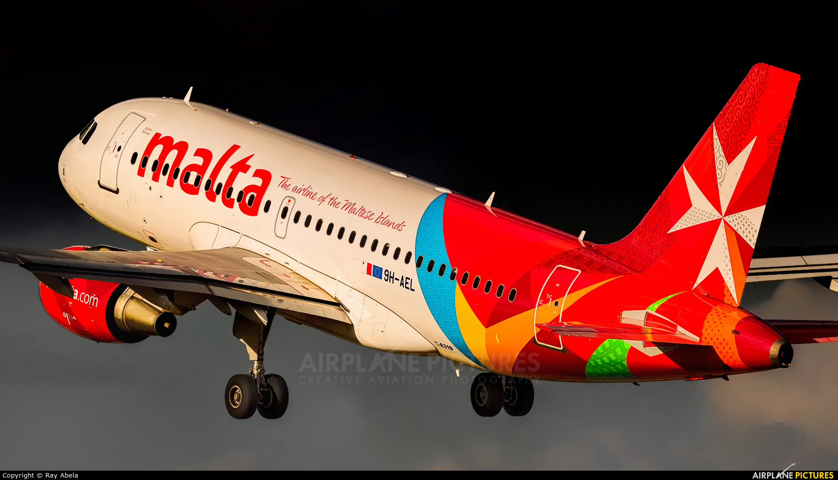 Air Malta 9H-AEL aircraft at Malta Intl