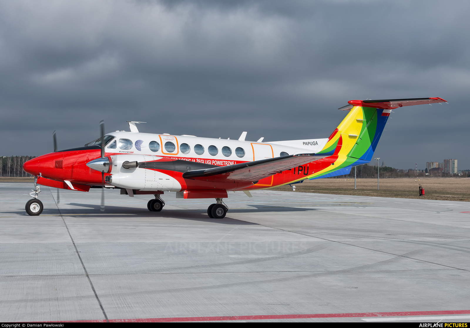 Polish Air Navigation Services Agency - PAZP SP-TPU aircraft at Bydgoszcz - Szwederowo