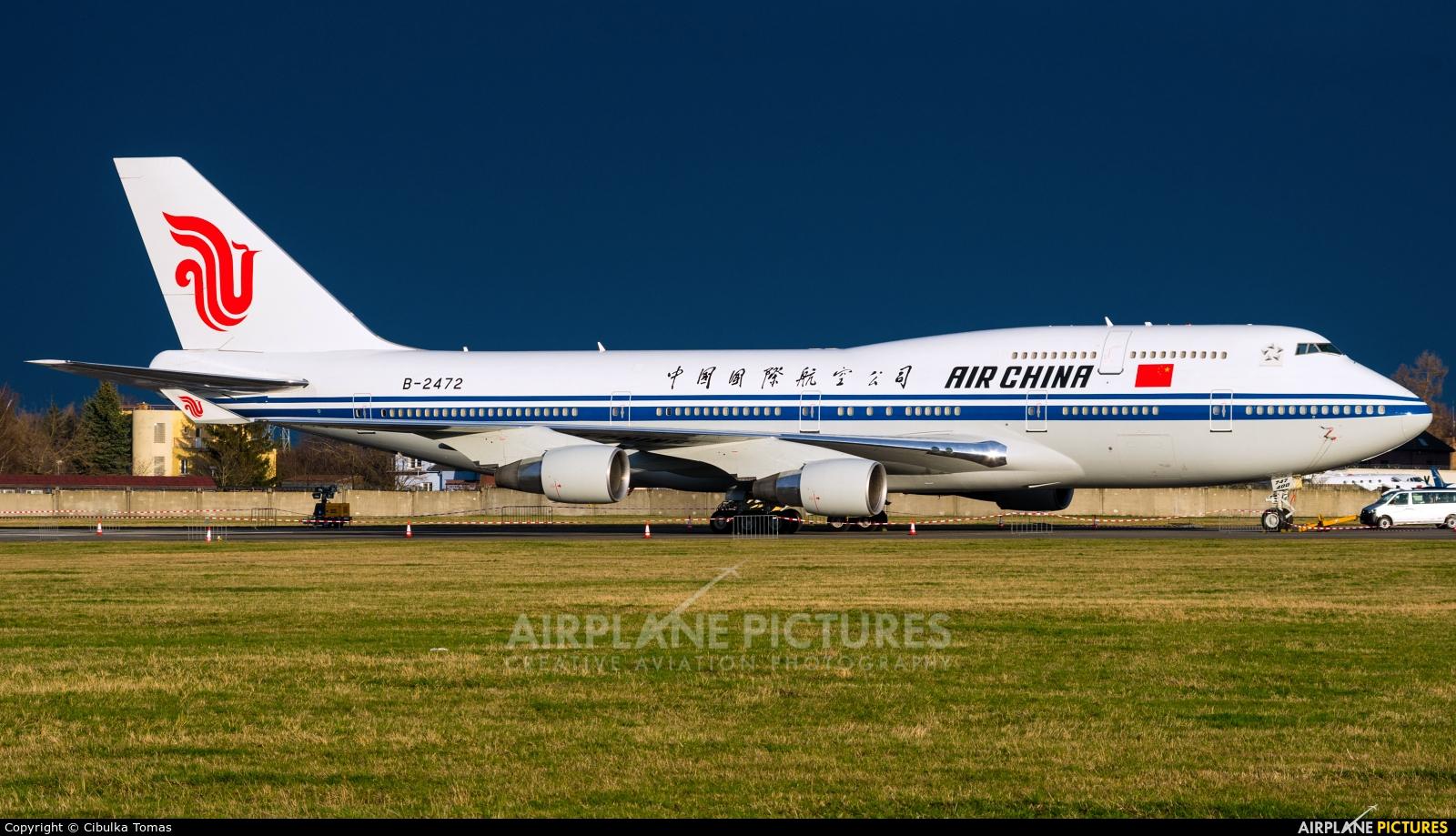 Air China B-2472 aircraft at Prague - Václav Havel