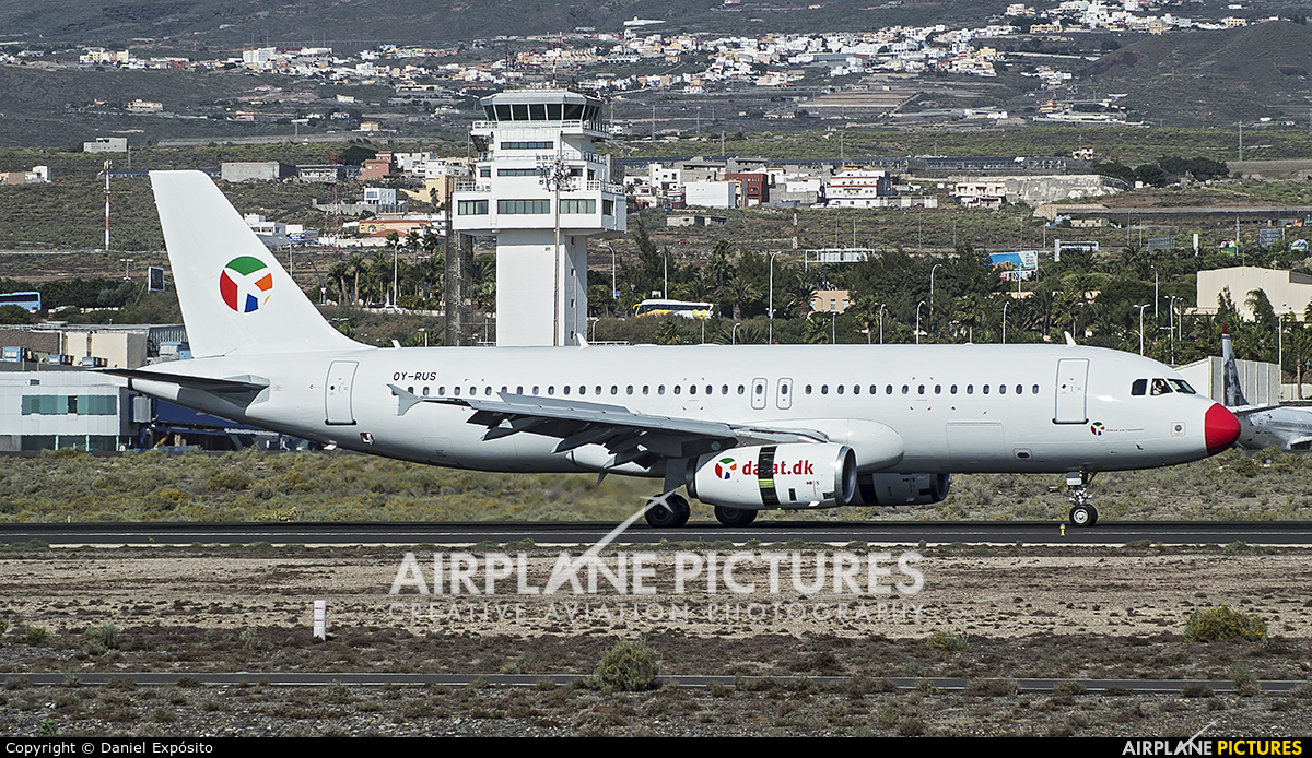 Danish Air Transport OY-RUS aircraft at Tenerife Sur - Reina Sofia