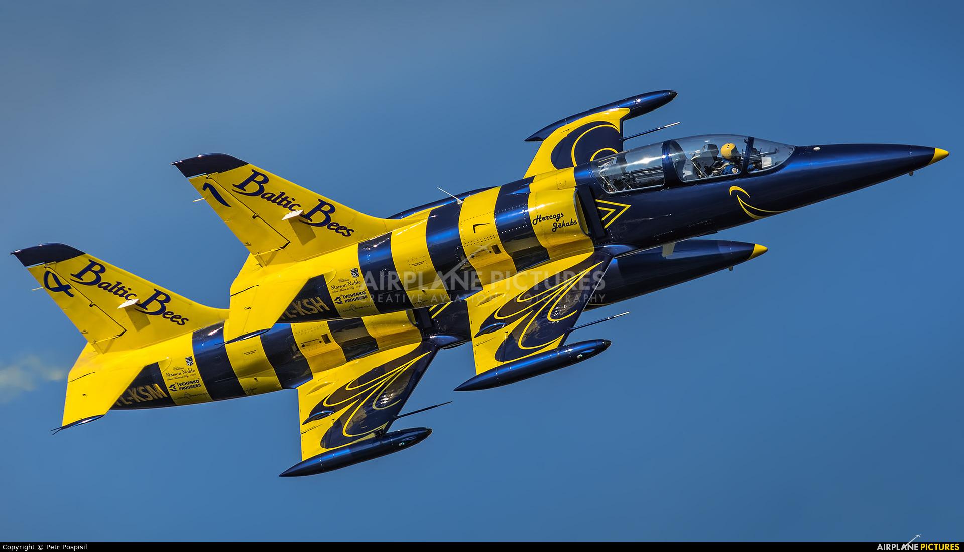 Baltic Bees Jet Team YL-KSH aircraft at Hradec Králové