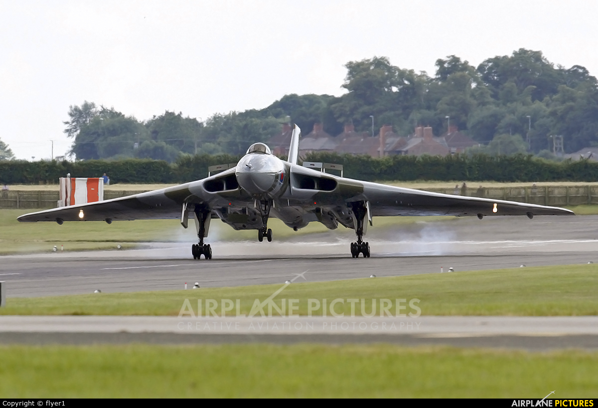 Vulcan to the Sky Trust G-VLCN aircraft at Waddington