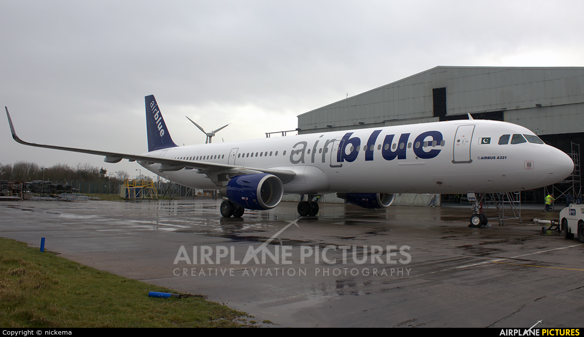 Air Blue AP-BMM aircraft at East Midlands