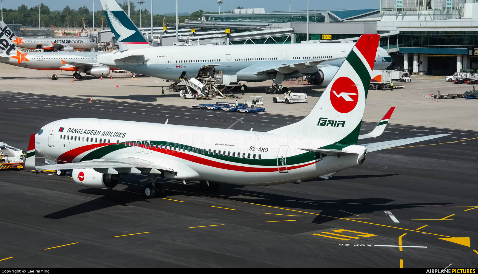 Biman Bangladesh S2-AHO aircraft at Singapore - Changi