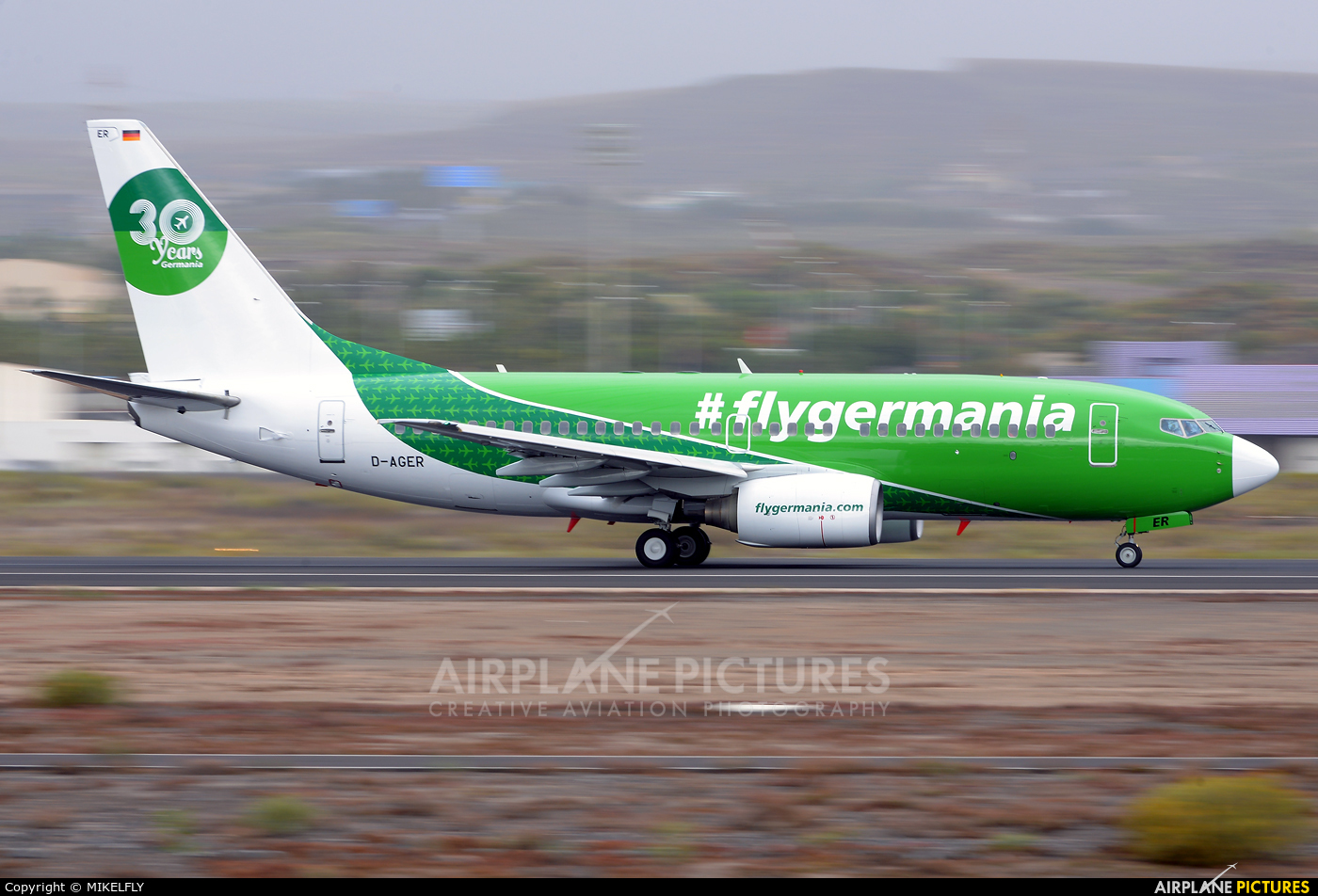 Germania D-AGER aircraft at Tenerife Sur - Reina Sofia