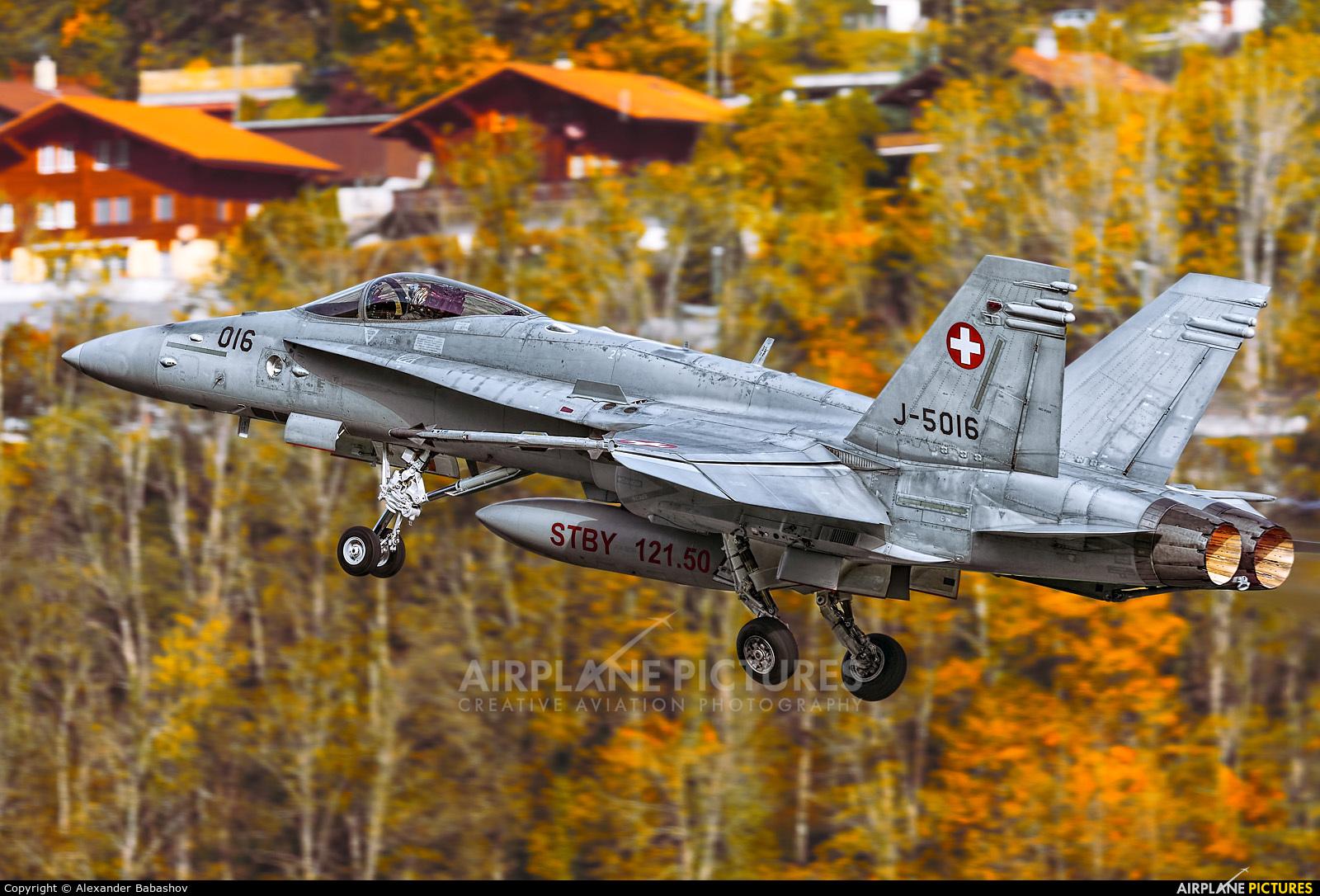 Switzerland - Air Force J-5016 aircraft at Meiringen