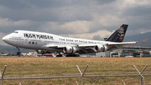 Iron Maiden arriving in special scheme 747-400 to Costa Rica title=