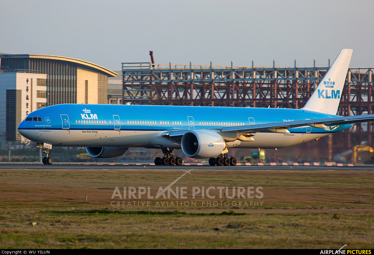 KLM PH-BVG aircraft at Taipei - Taoyuan