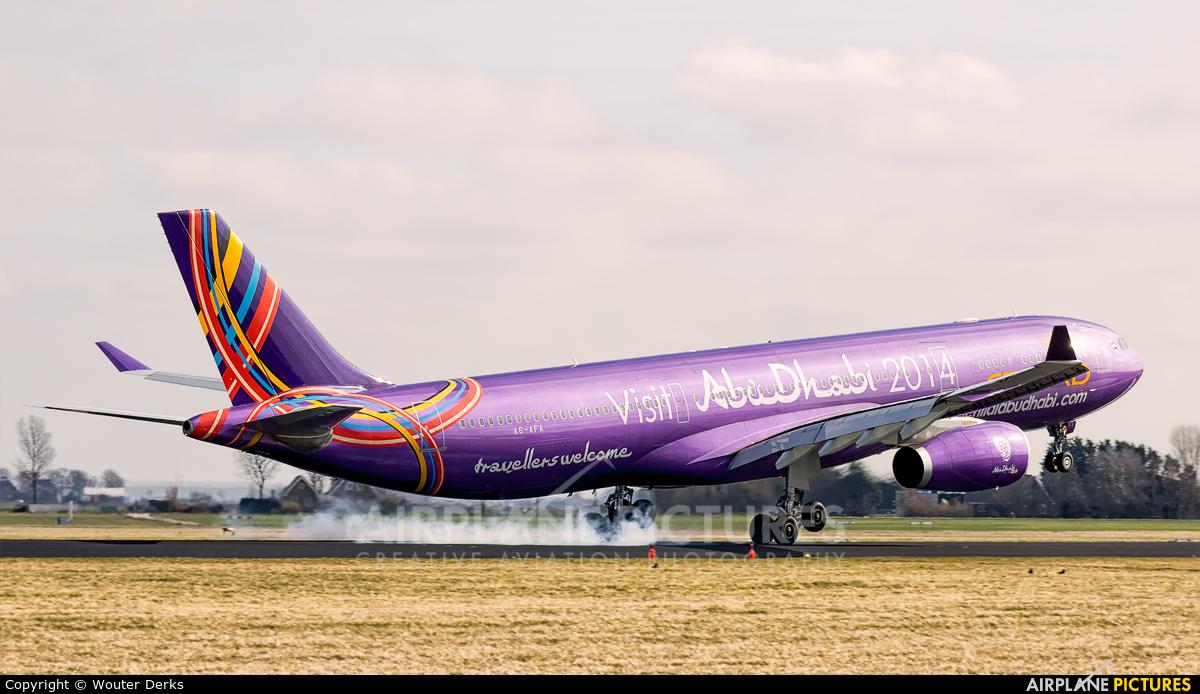 Etihad Airways A6-AFA aircraft at Amsterdam - Schiphol