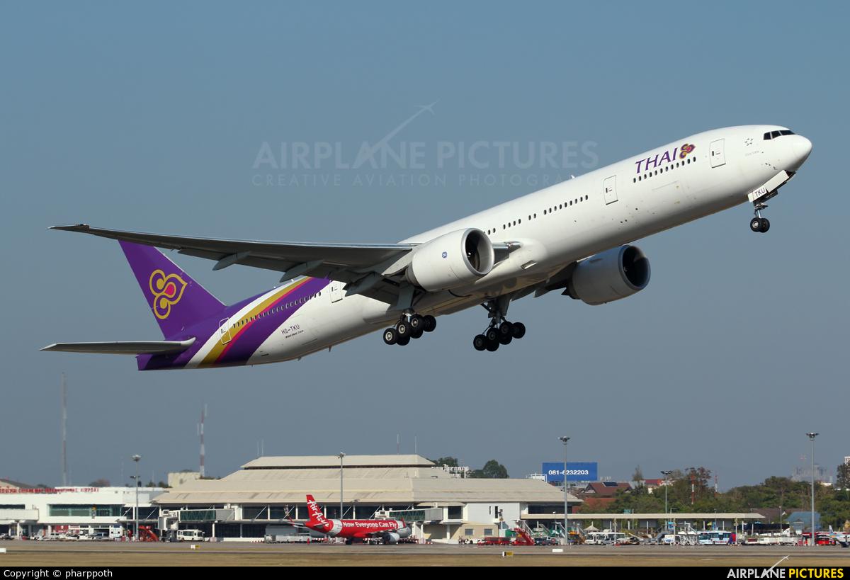 Thai Airways HS-TKU aircraft at Chiang-Mai