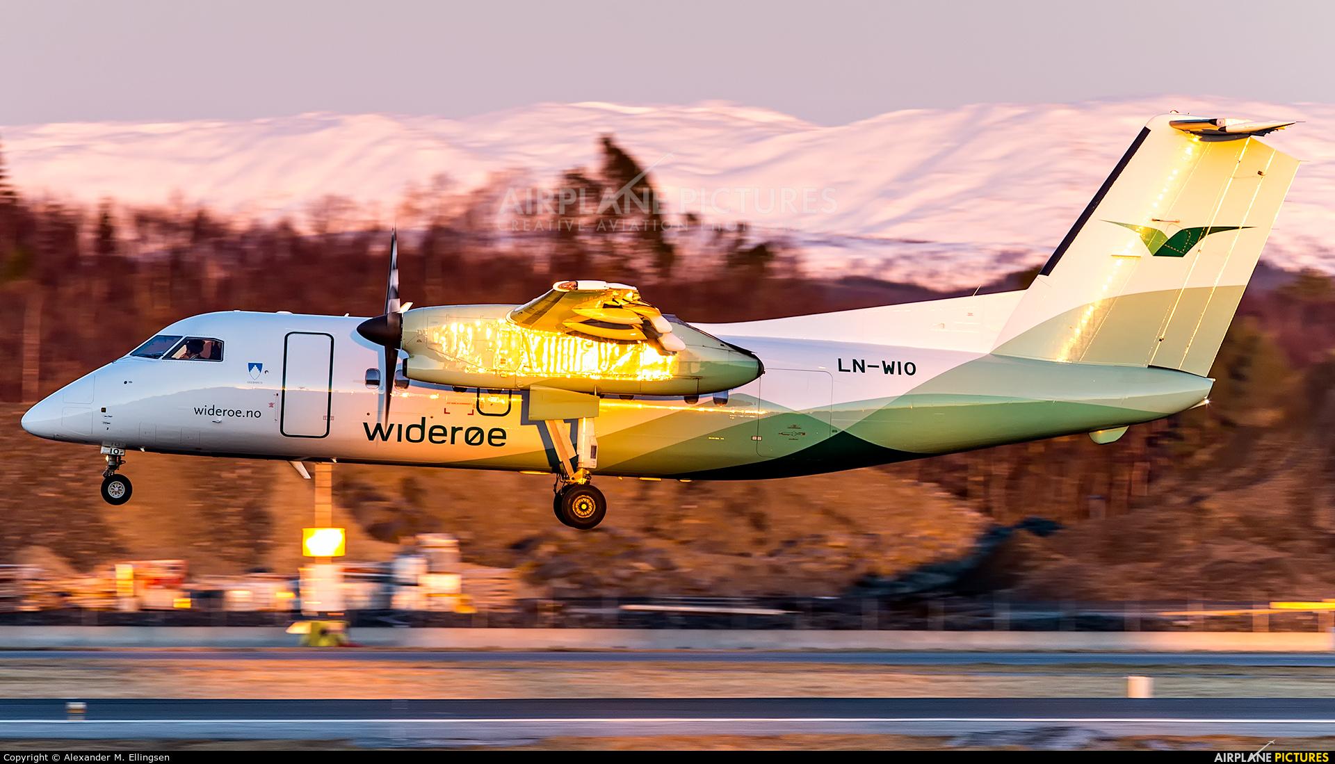Widerøe LN-WIO aircraft at Bergen - Flesland
