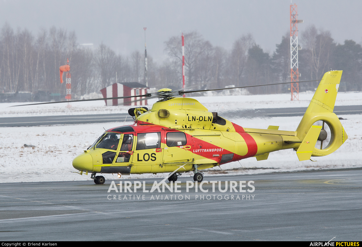 Lufttransport LN-OLN aircraft at Trondheim - Vaernes