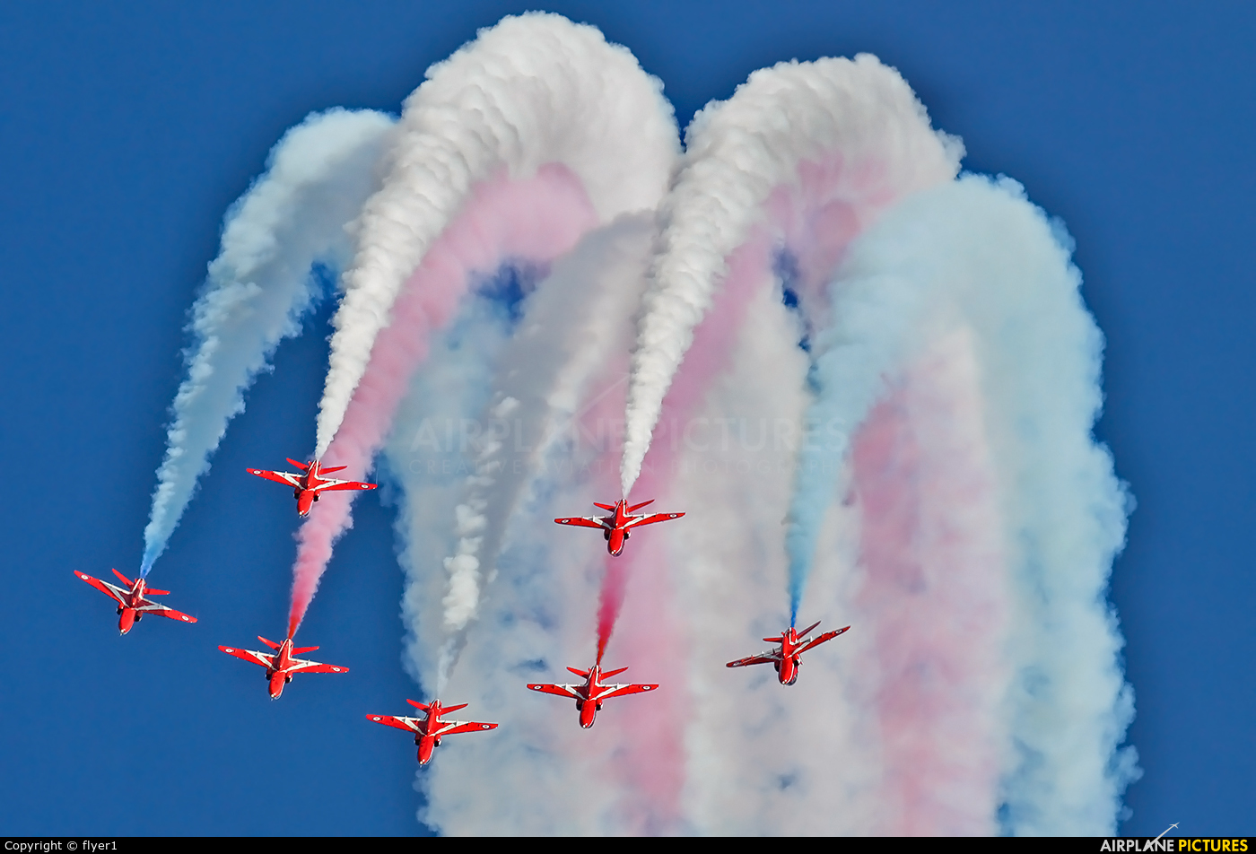 "Royal Air Force ""Red Arrows"" XX227 aircraft at Eastbourne - Off-Airport"