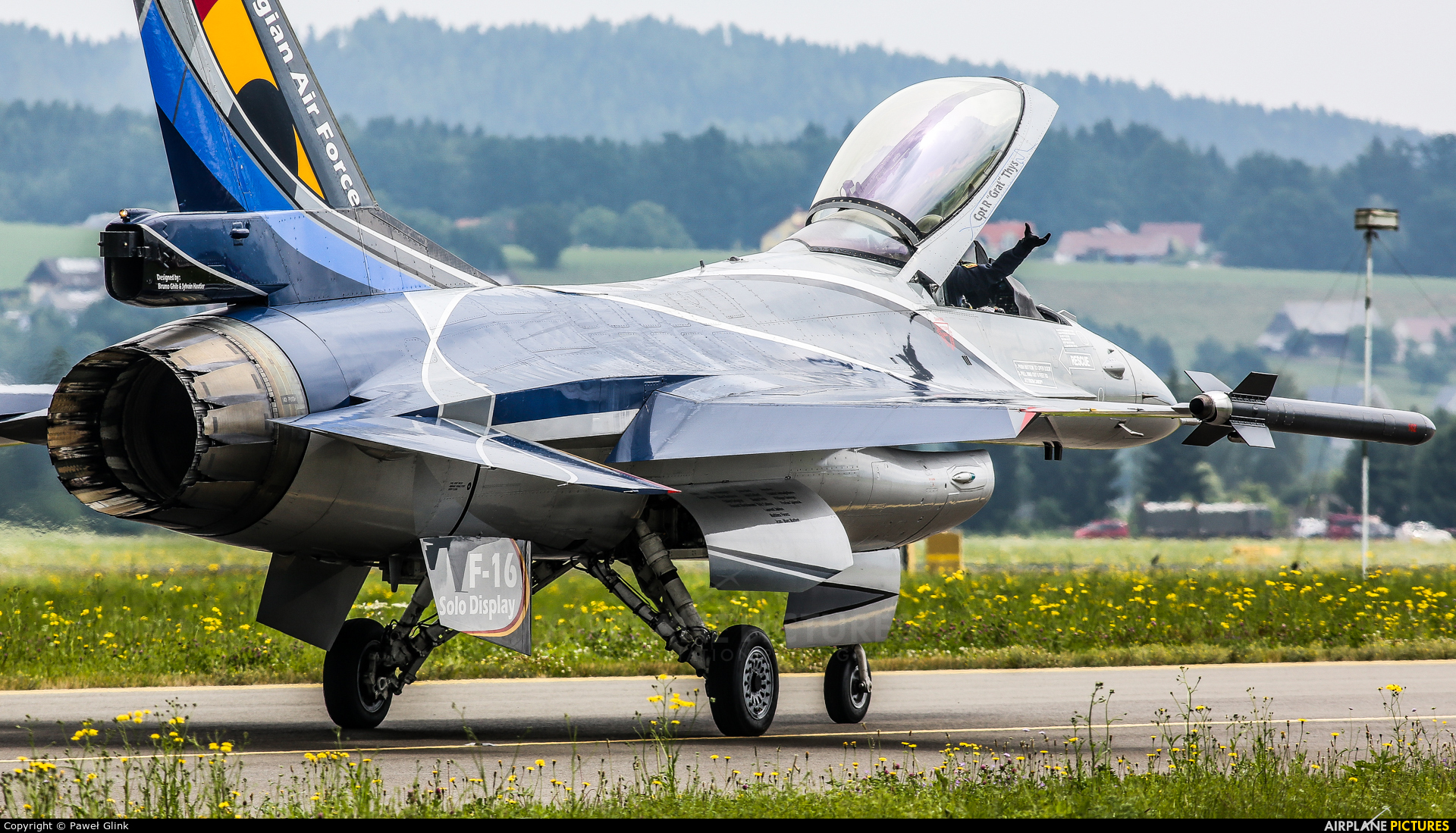 Belgium - Air Force FA-84 aircraft at Zeltweg