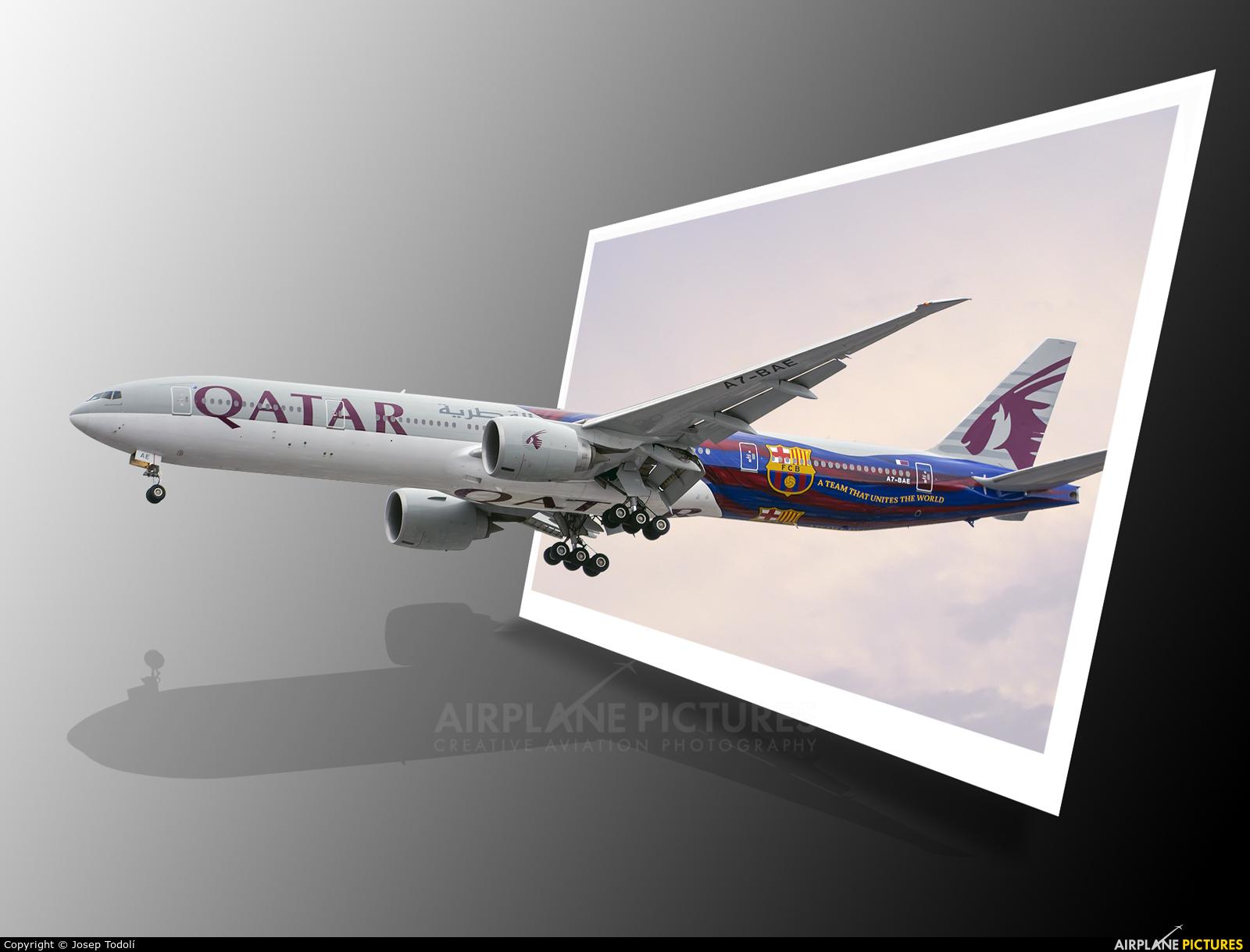Qatar Airways A7-BAE aircraft at Manchester