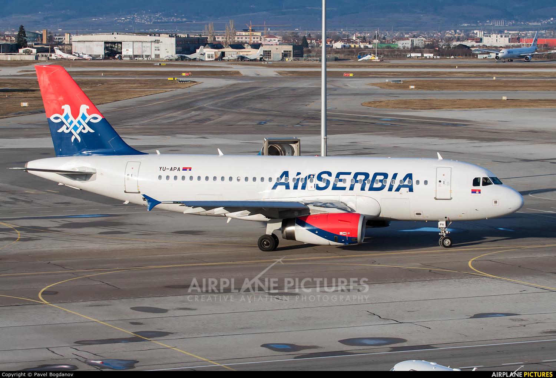 Air Serbia YU-APA aircraft at Sofia