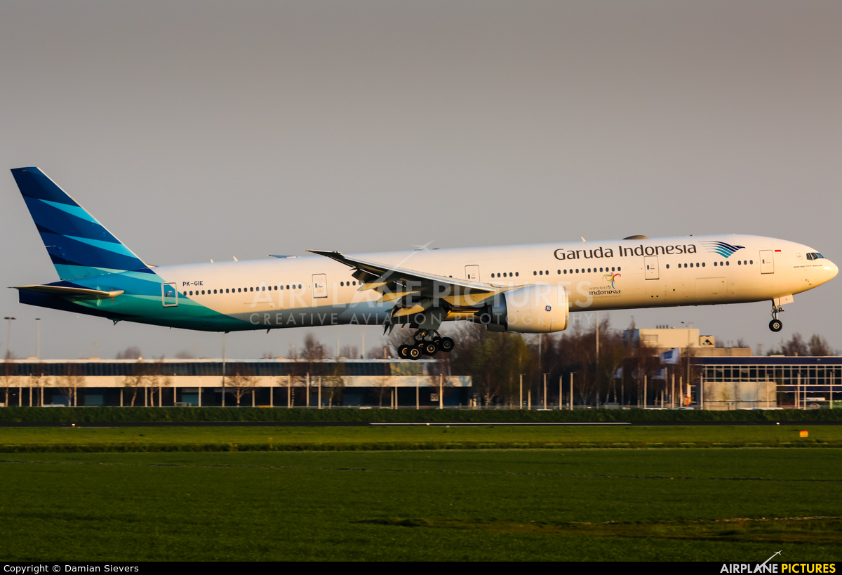 Garuda Indonesia PK-GIE aircraft at Amsterdam - Schiphol