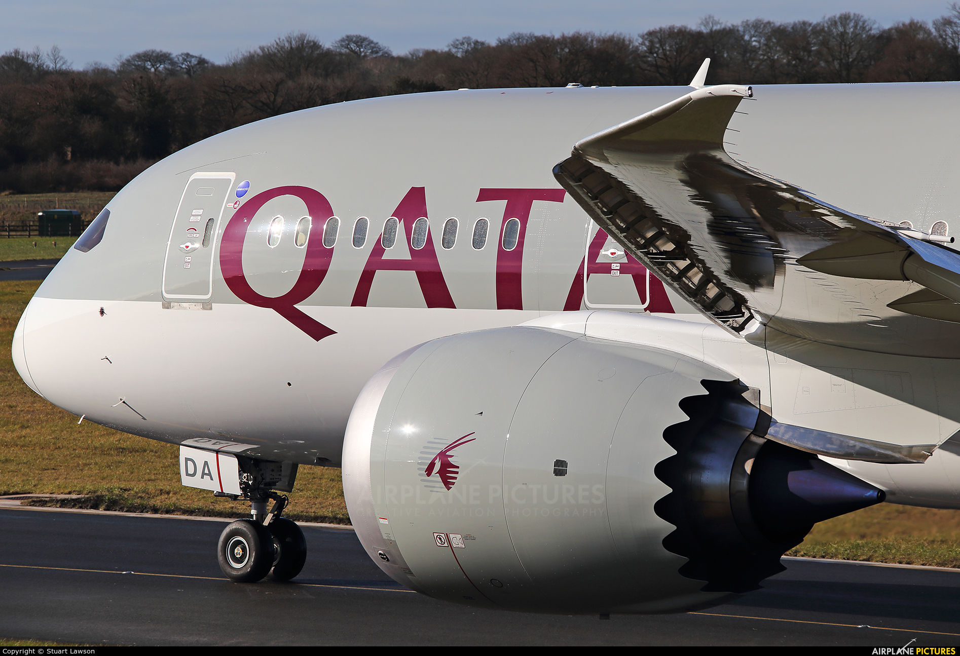 Qatar Airways A7-BDA aircraft at Birmingham