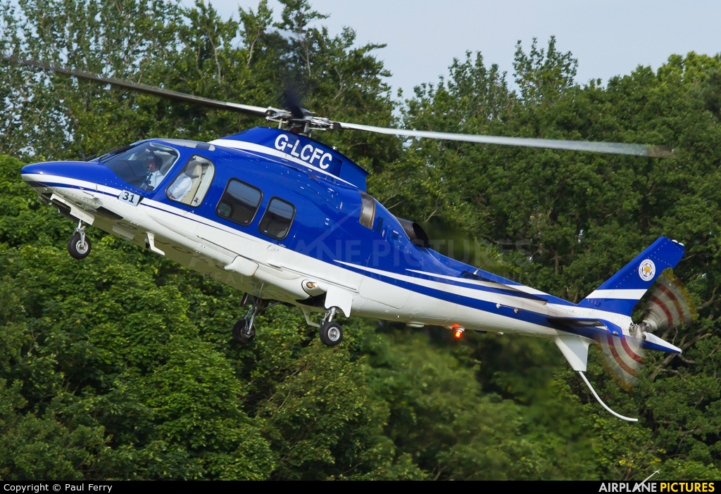 Private G-LCFC aircraft at Ascot Racecourse Heliport