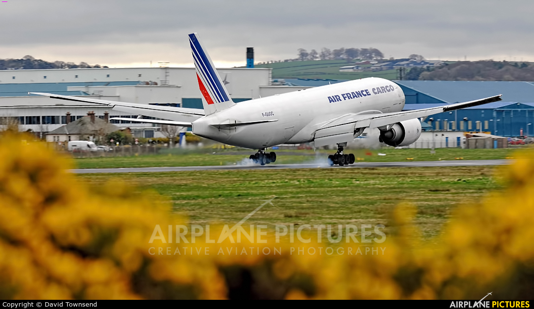 Air France Cargo F-GUOC aircraft at Prestwick