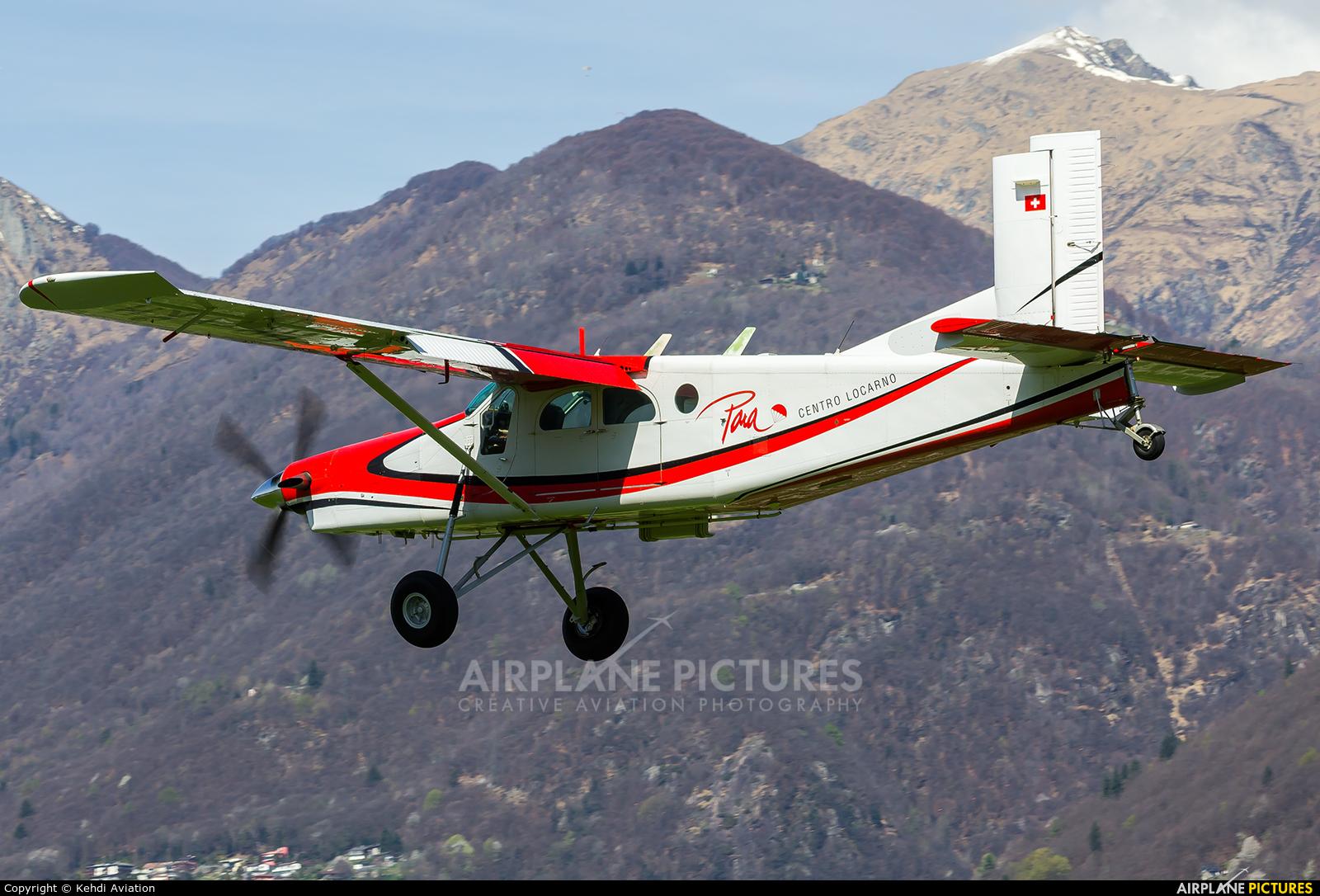Para Centro Locarno HB-FKH aircraft at Locarno