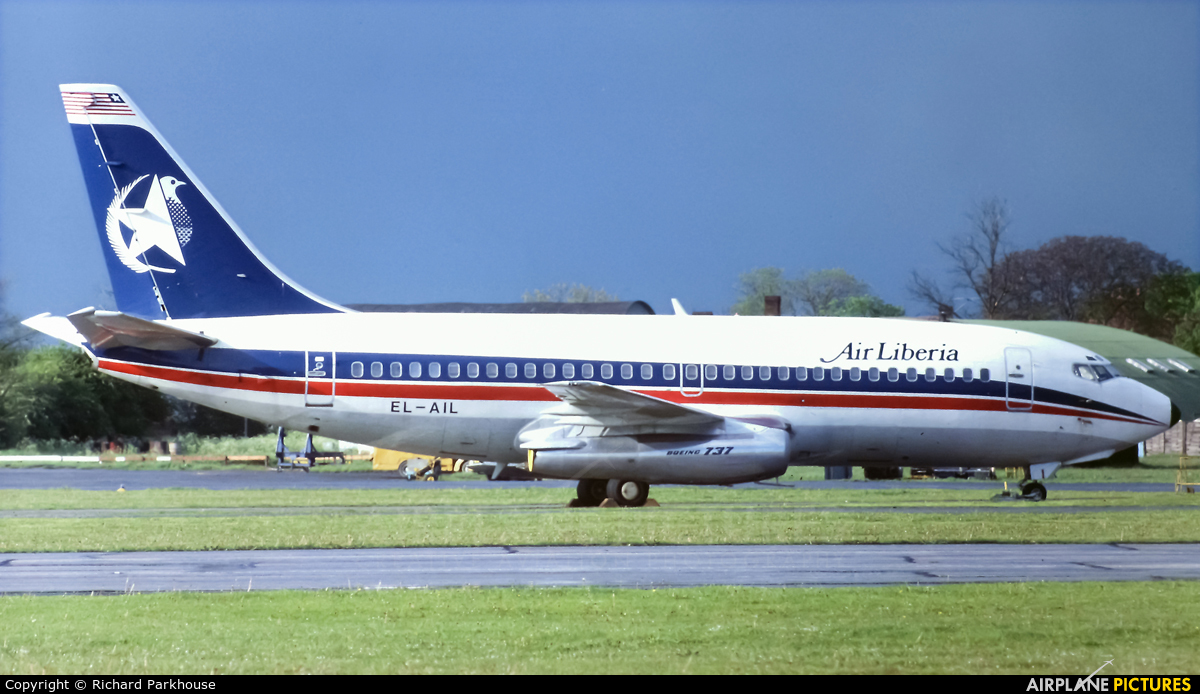 Air Liberia EL-AIL aircraft at London - Stansted