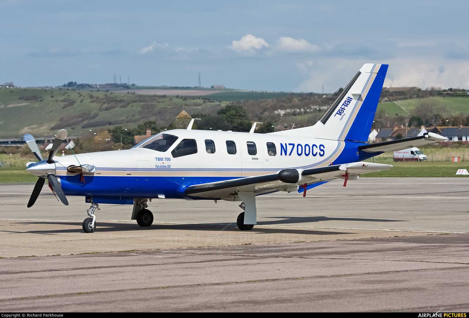 Private N700CS aircraft at Brighton - Shoreham