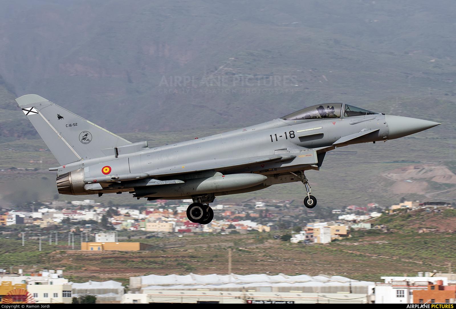 Spain - Air Force C.16-52 aircraft at Las Palmas de Gran Canaria