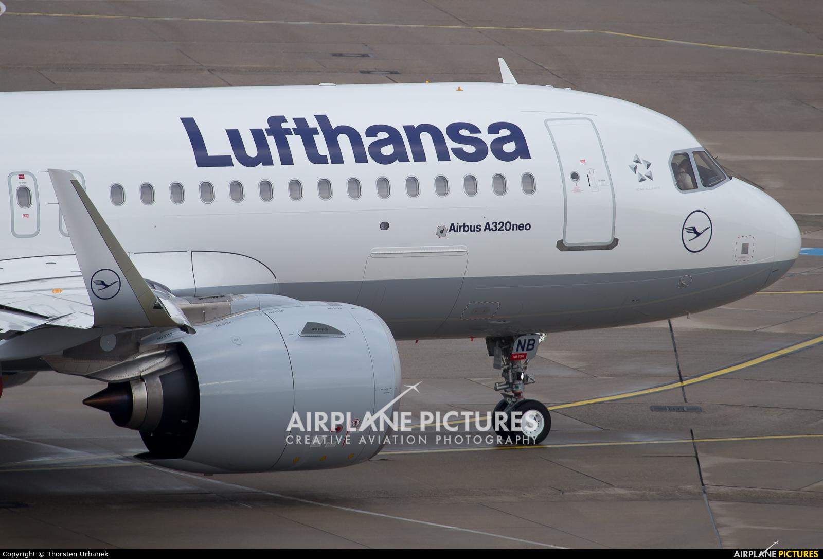 Lufthansa D-AINB aircraft at Düsseldorf