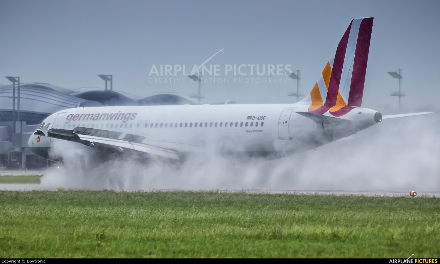 Germanwings D-AIQC aircraft at Zagreb