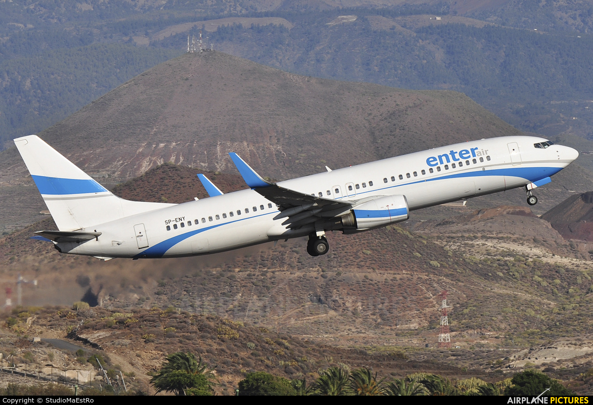 Enter Air SP-ENY aircraft at Tenerife Sur - Reina Sofia