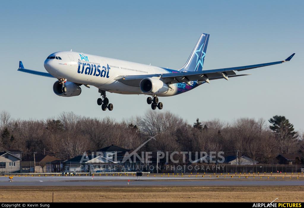 c gkts air transat airbus a330 300 at montreal elliott trudeau intl qc photo id