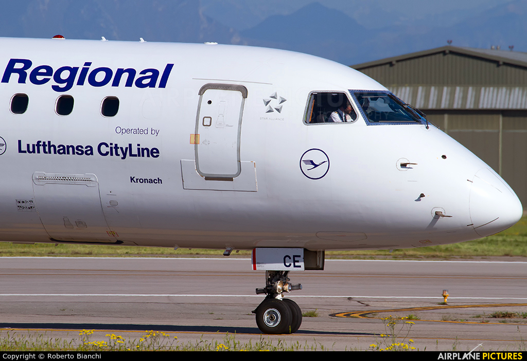 Lufthansa Regional - CityLine D-AECE aircraft at Verona - Villafranca