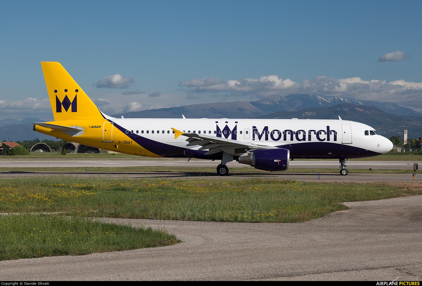 Monarch Airlines G-ZBAT aircraft at Verona - Villafranca
