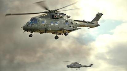 ZJ123 - Royal Air Force Agusta Westland AW101 411 Merlin HC.3