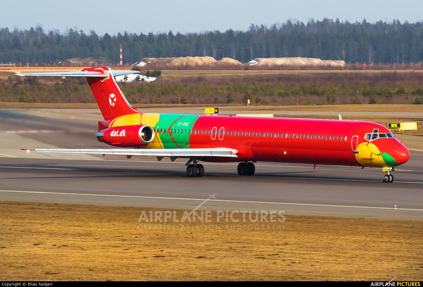 Danish Air Transport OY-RUE aircraft at Helsinki - Vantaa