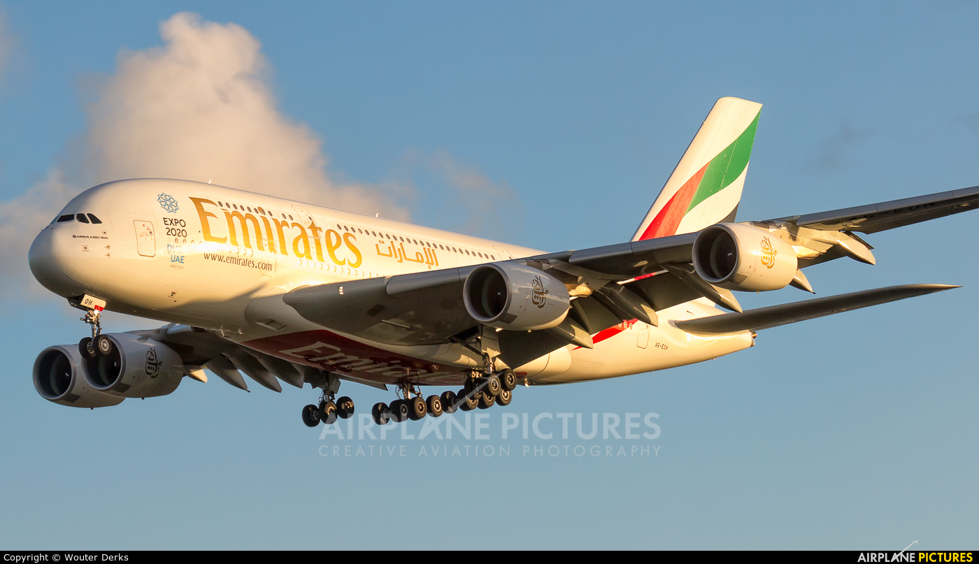 Emirates Airlines A6-EOH aircraft at Amsterdam - Schiphol