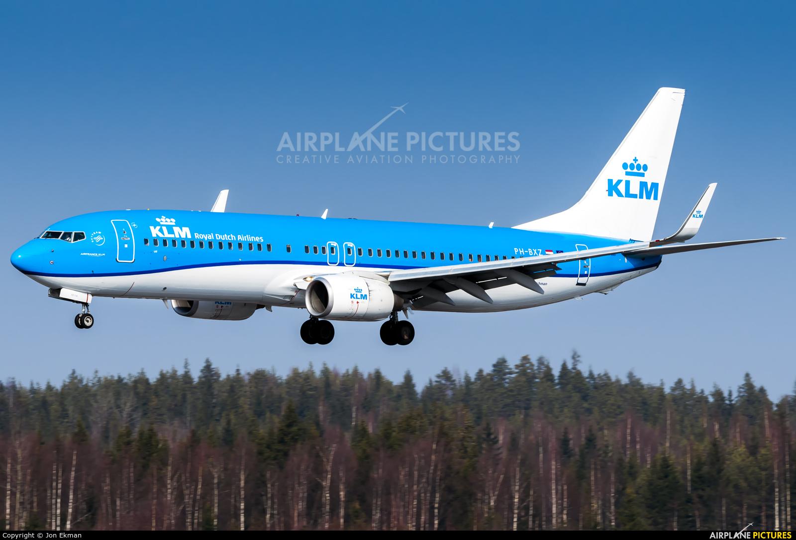 KLM PH-BXZ aircraft at Helsinki - Vantaa