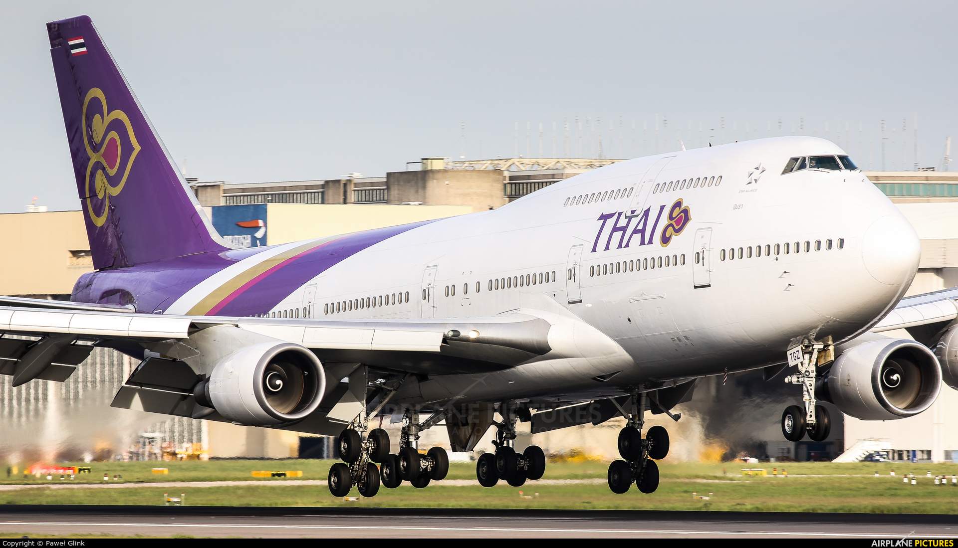Thai Airways HS-TGZ aircraft at London - Heathrow