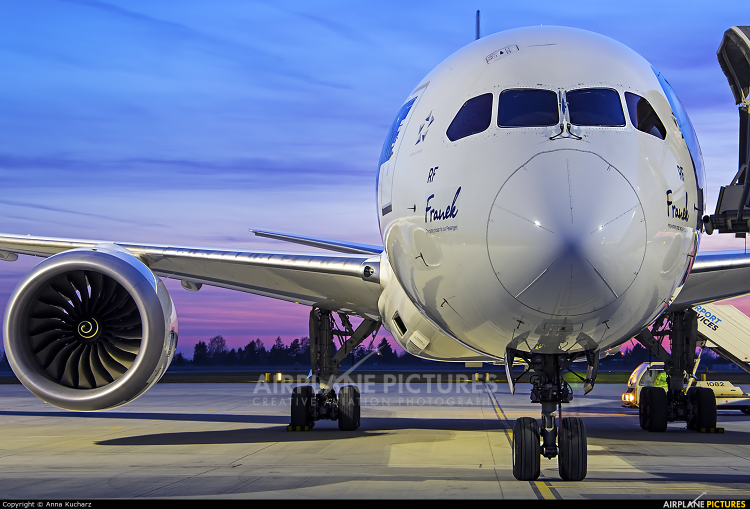LOT - Polish Airlines SP-LRF aircraft at Warsaw - Frederic Chopin