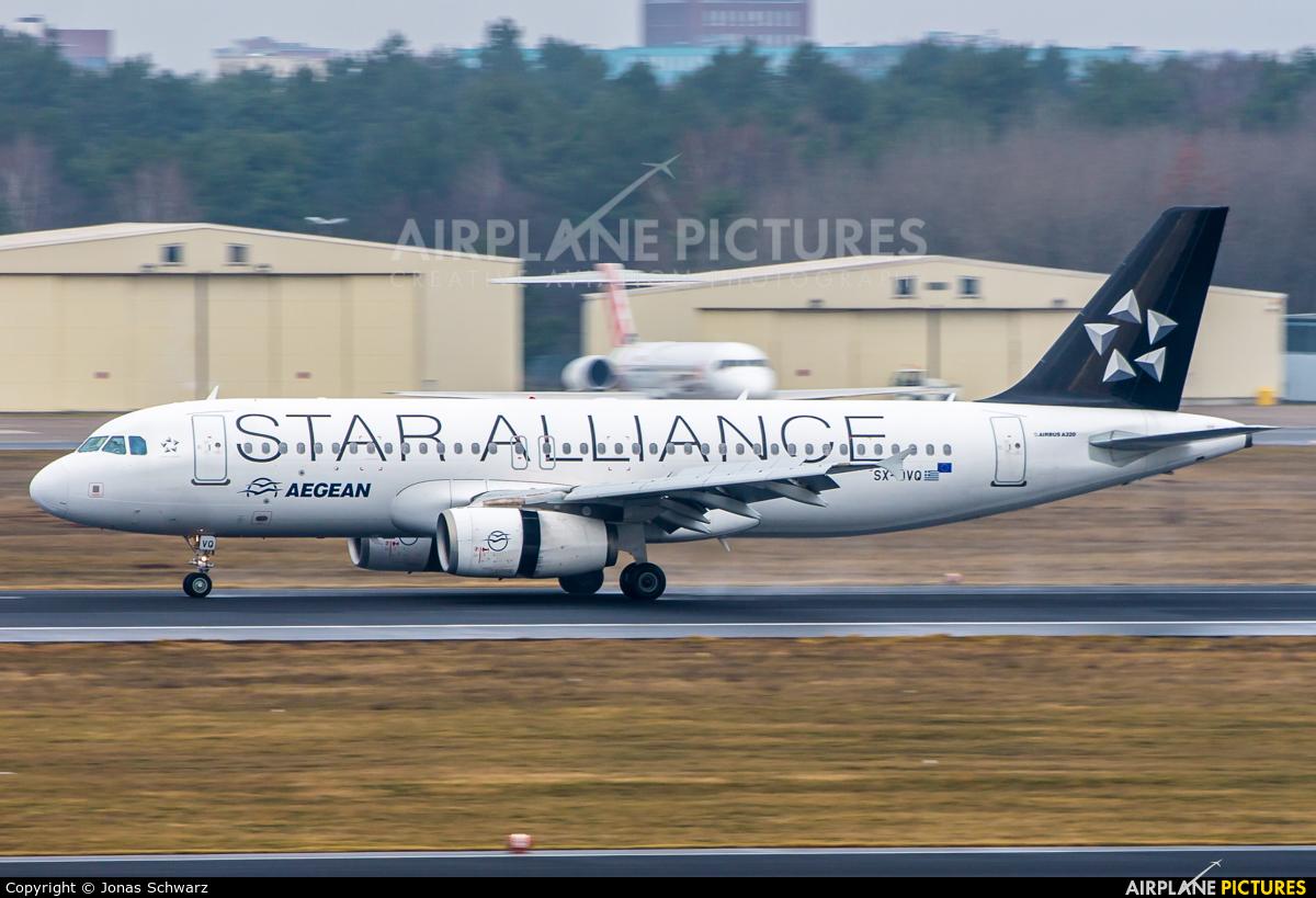 Aegean Airlines SX-DVQ aircraft at Berlin - Tegel
