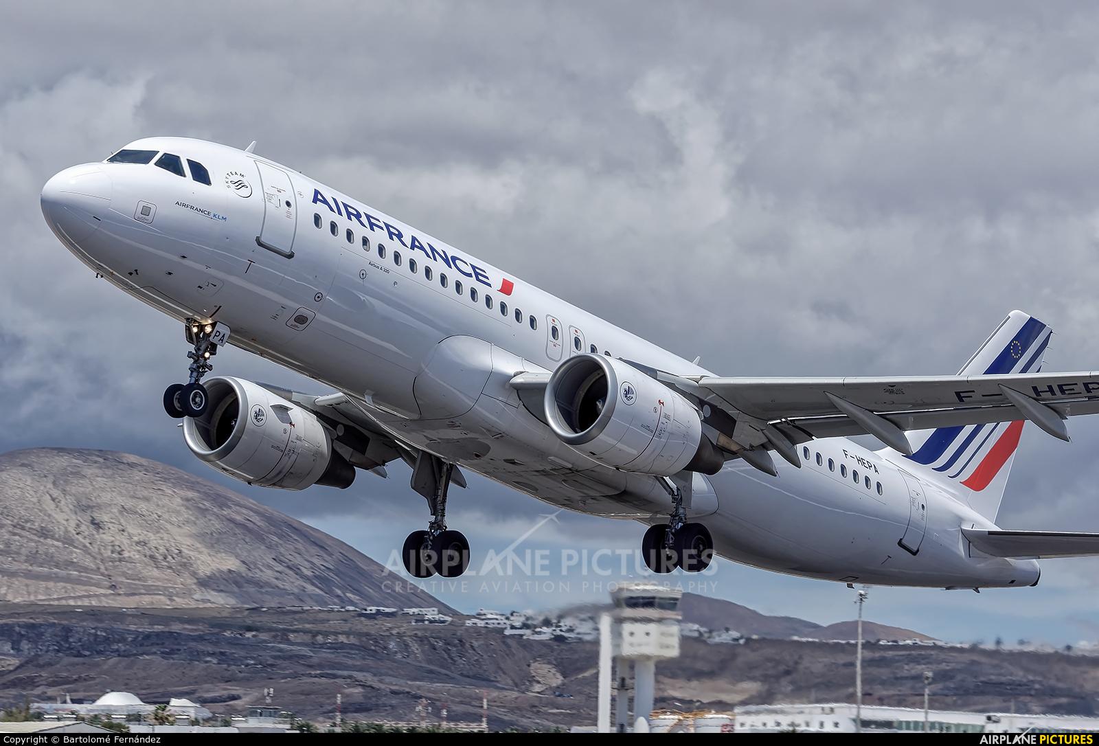Air France F-HEPA aircraft at Lanzarote - Arrecife