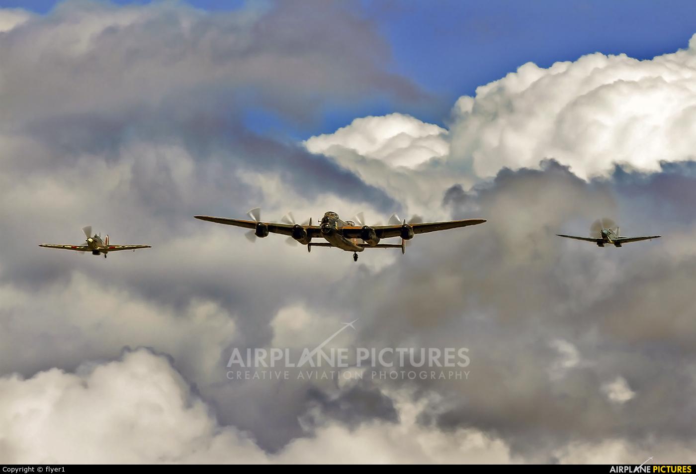 "Royal Air Force ""Battle of Britain Memorial Flight&quot PA474 aircraft at Lashenden / Headcorn"