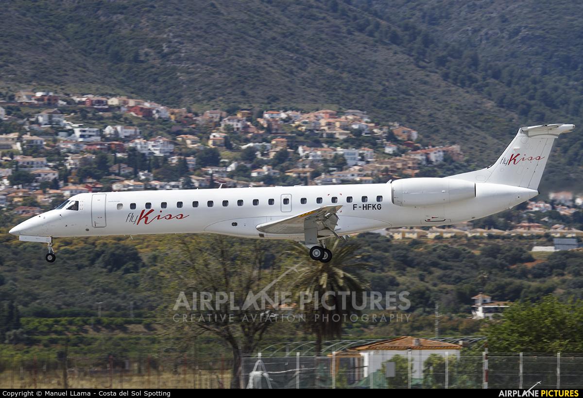 Fly Kiss F-HFKG aircraft at Málaga